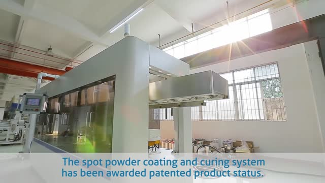 Spot Powder Coating and Curing System for Pail
